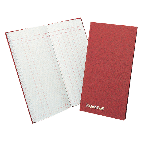 Guildhall Red Petty 80 Page Cash Book T272 1810