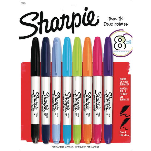 Sharpie Twin Tip Permanent Marker Asstd