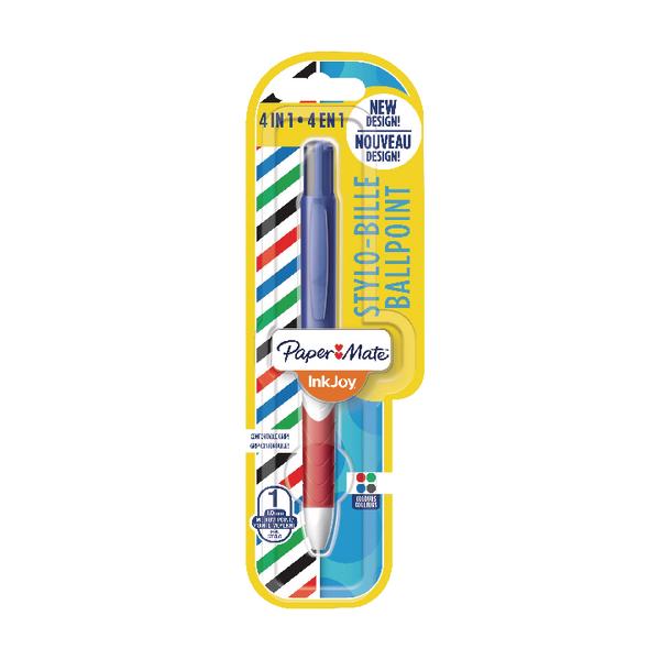 Papermate 4 Colour InkJoy Quatro Pen Blister (Pack of 12) 1985640