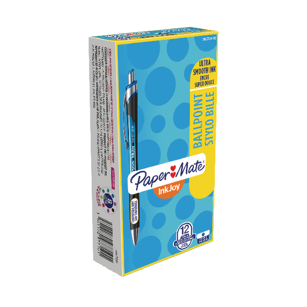Papermate Inkjoy 550 Blue Ballpoint Pen (Pack of 12) S0977220