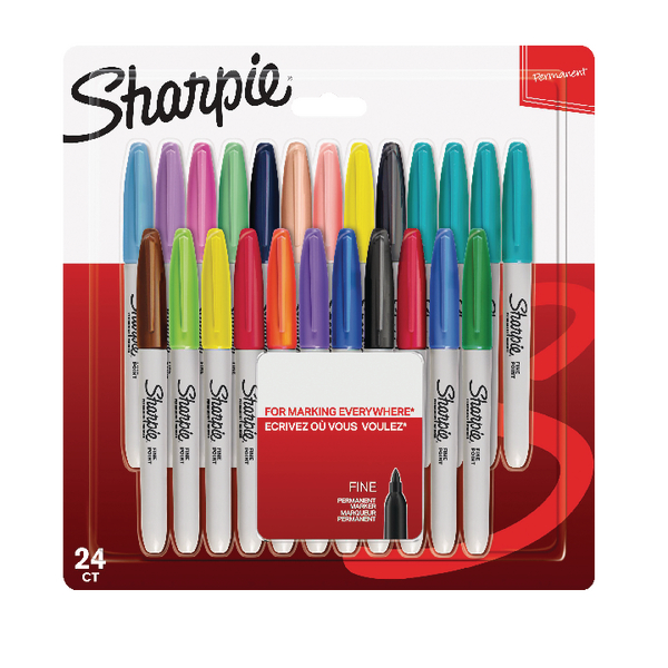 Sharpie Assorted Pastel Fine Markers (24 Pack) S0944841