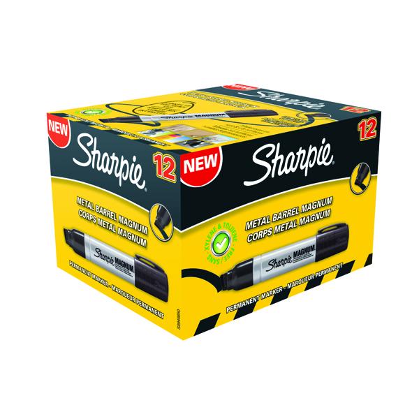 Sharpie Magnum Permanent Marker Extra Large Chisel Tip Black (Pack of 12) S0949850