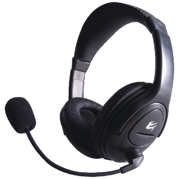 Computer Gear HP 512 Multimedia Stereo Headset With Boom Microphone 24-1512