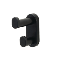 Safco Black Wall Mounted 3 Coat Hook (Pack of 1)