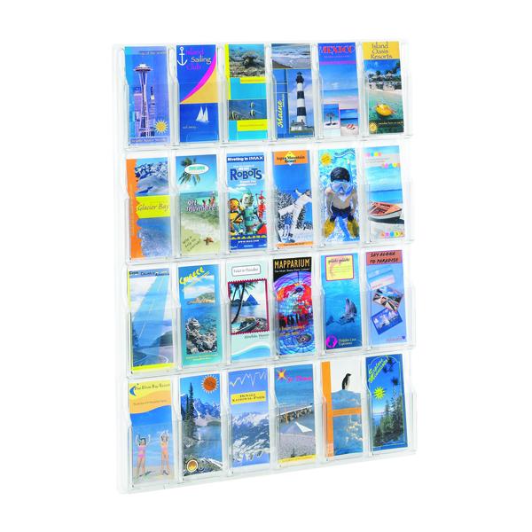Safco Clear Pamphket Display Rack 24xDL Pockets 5600VL