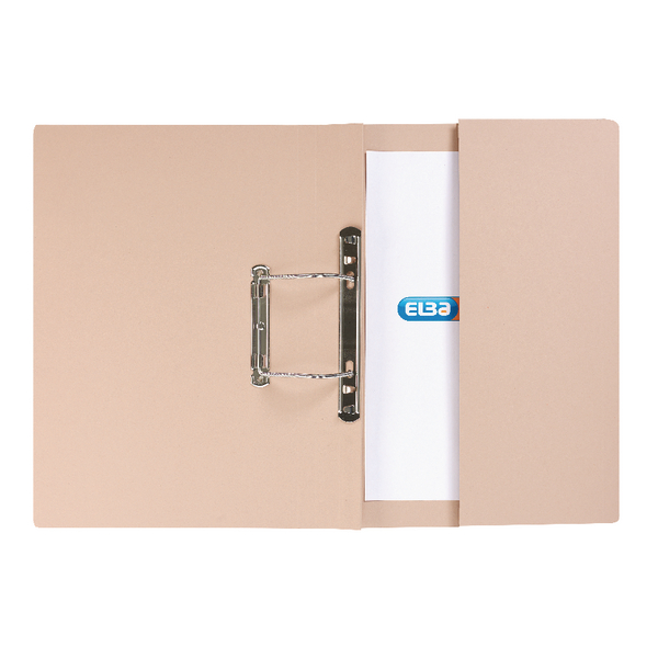 Elba Strongline Foolscap Buff Spring Pocket File (25 Pack) 100090145