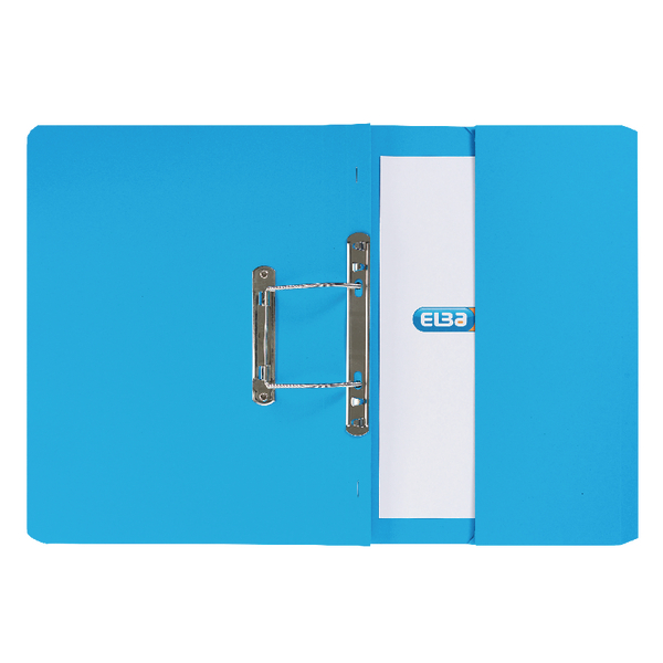 Elba Blue Stratford Spring Pocket File (25 Pack) 100090146