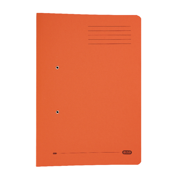 Elba Strongline Foolscap Orange Spring Pocket File Pack of 25 100090148