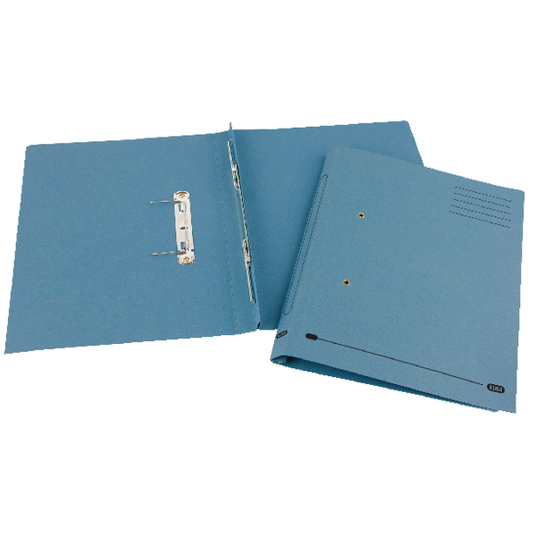 Elba Spirosort Foolscap Blue Spring Files (Pack of 25) 100090159