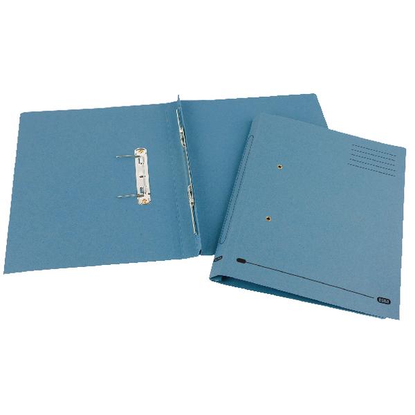 Elba Spirosort Foolscap Blue Spring Files Pack of 25 100090159