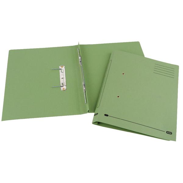 Elba Spirosort Foolscap Green Spring Files Pack of 25 100090160
