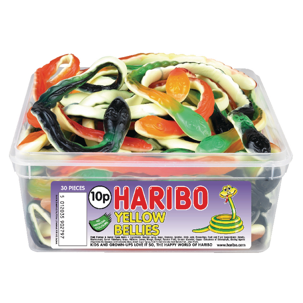 Haribo Giant Yellow Bellies Tub (Pack of 1) 9644