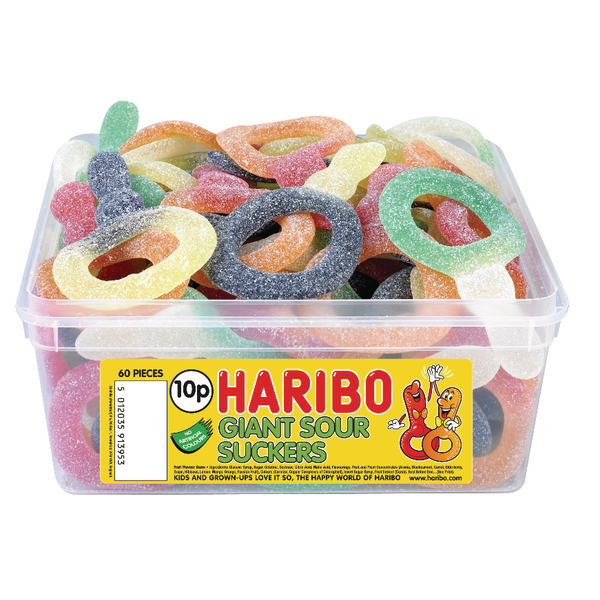 Haribo Giant Sour Suckers Tub 13444