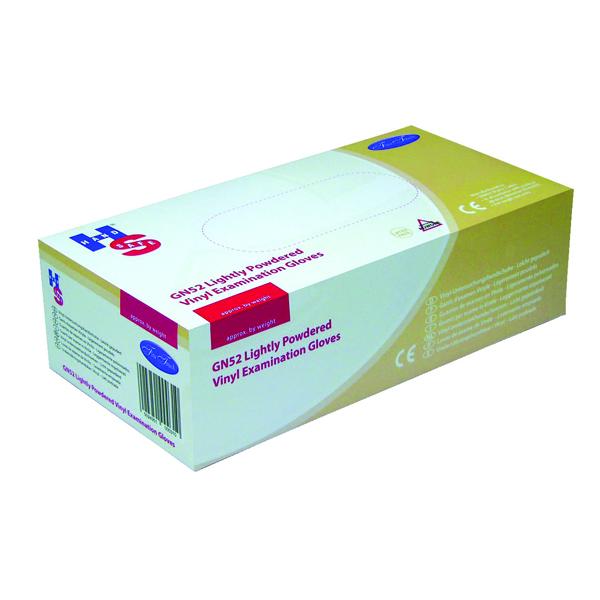 Handsafe Powdered Clear Vinyl Large Gloves (100 Pack) GN52