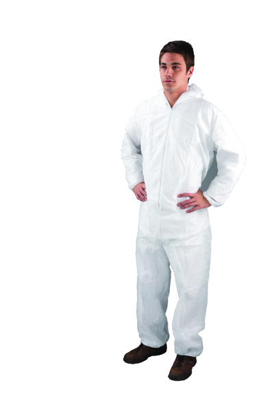 Large White Non-Woven Coverall DC03