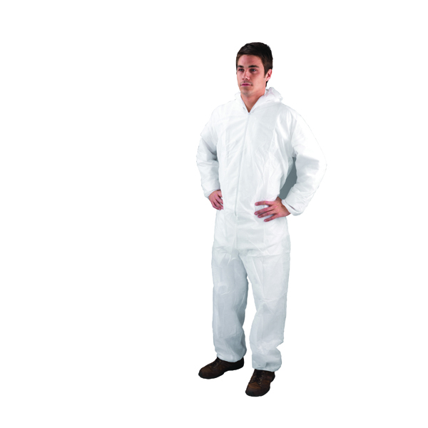 X Large White Non-Woven Coverall DC03