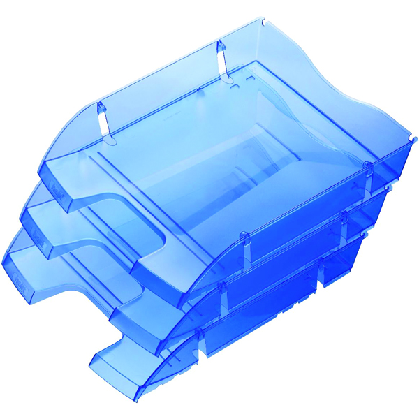 Helit Blue PET Recycled A4 Letter Tray (Pack of 1) H2363530
