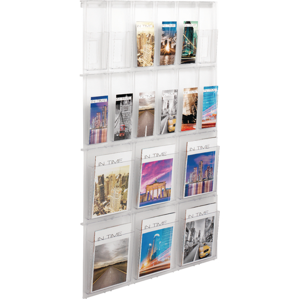 Helit Placativ Clear Wall Display 18 Pkt
