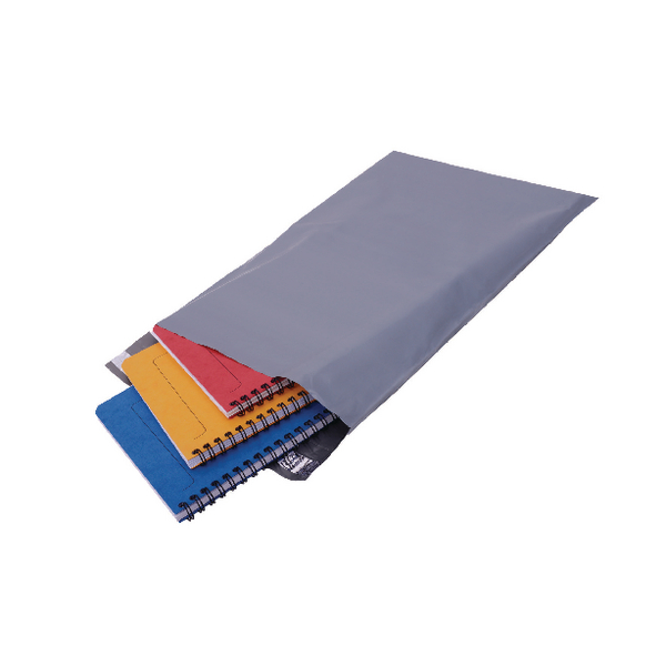 Polythene Mailing Bag Opaque Grey 235x320mm (Pack of 500)