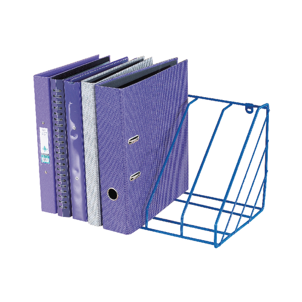 Blue Plastic Coated Wire Universal Storage Rack WR222BL