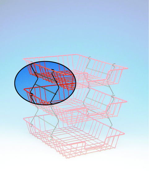 Wire Filing Tray Risers Black 777 (Pack of 2)