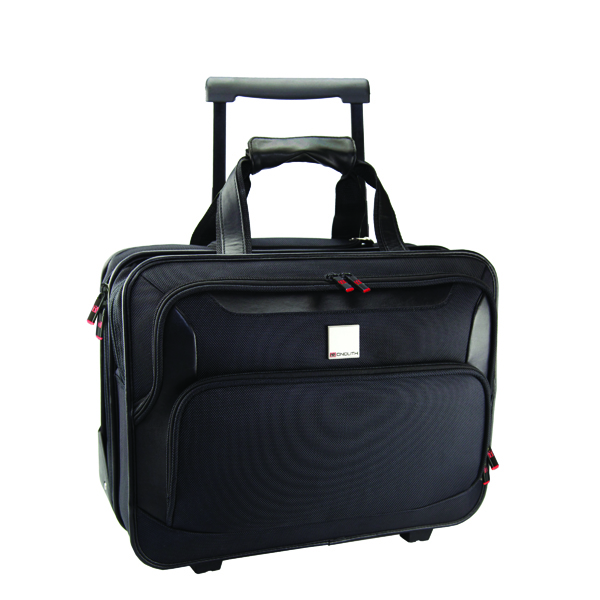 Monolith Deluxe Black Nylon Wheeled Laptop Case 2372