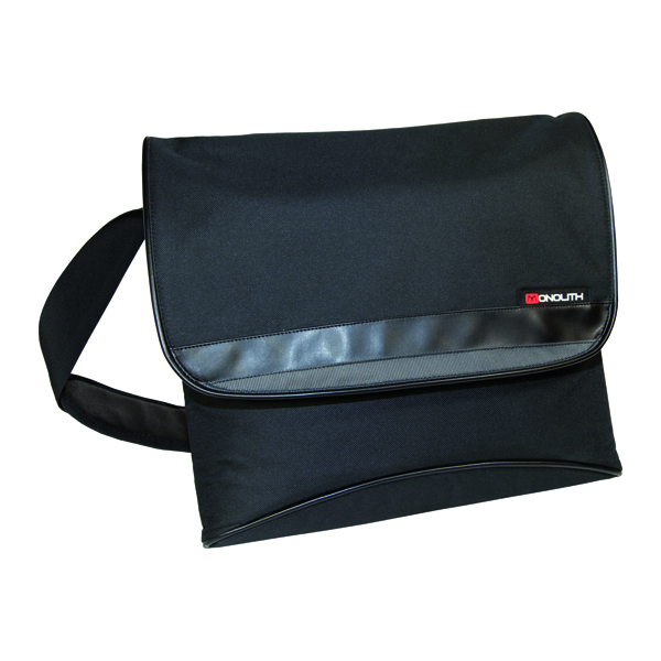 Monolith Nylon Messenger Bag Black 2386