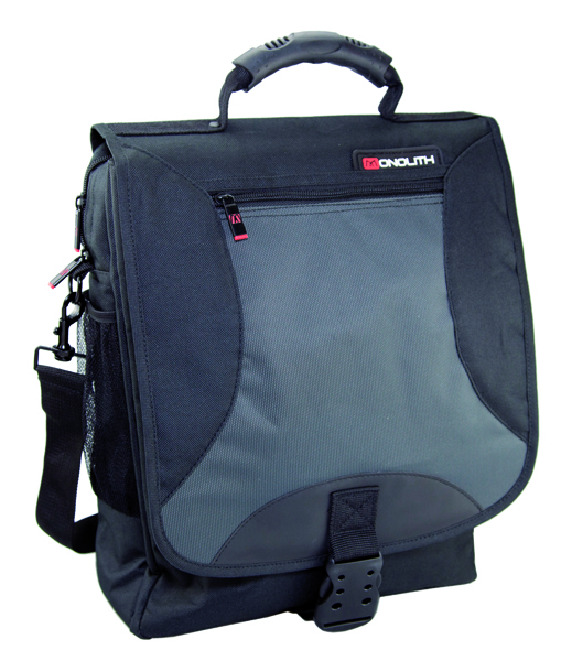 Monolith Black And Grey Multifunctional Nylon Laptop Backpack 2399