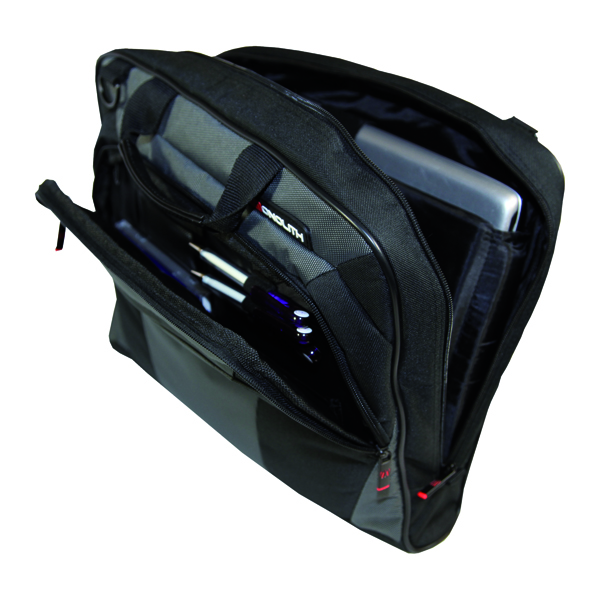 Image for Monolith Nylon Laptop Messenger Bag Black and Grey 2400