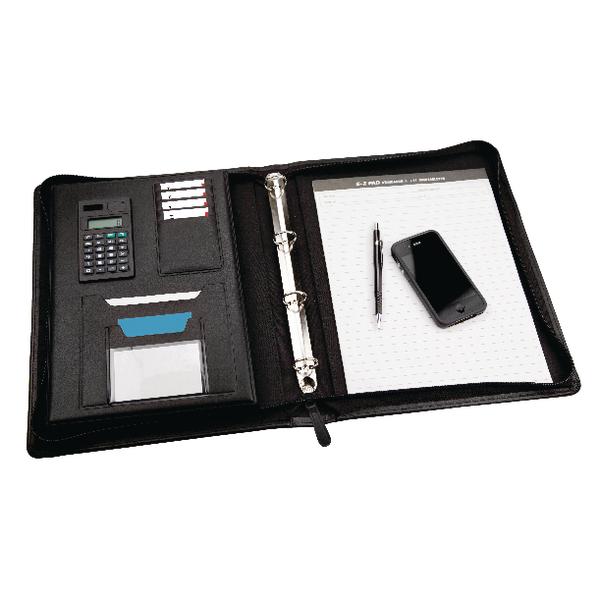 Monolith Black Meeting Folder Zipped 2827