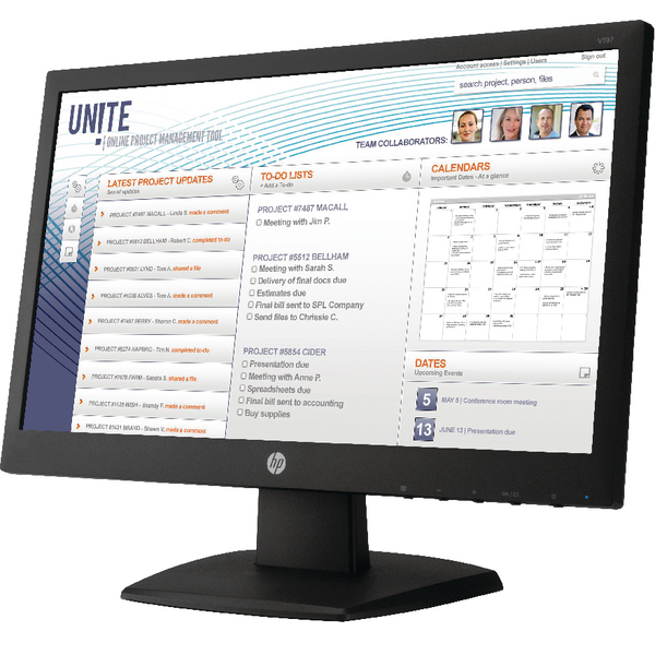 Image for HP 18.5in LED Monitor V5J61AT#ABU