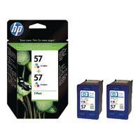 HP 57 Cyan/Magenta/Yellow Inkjet Cartridge (Pack of 2) C9503AE