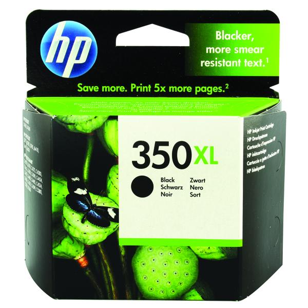 HP 350XL Black High Yield Inkjet Cartridge CB336EE