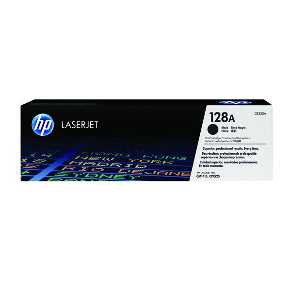 HP 128A Black LaserJet Toner Cartridge (2 Pack) CE320AD