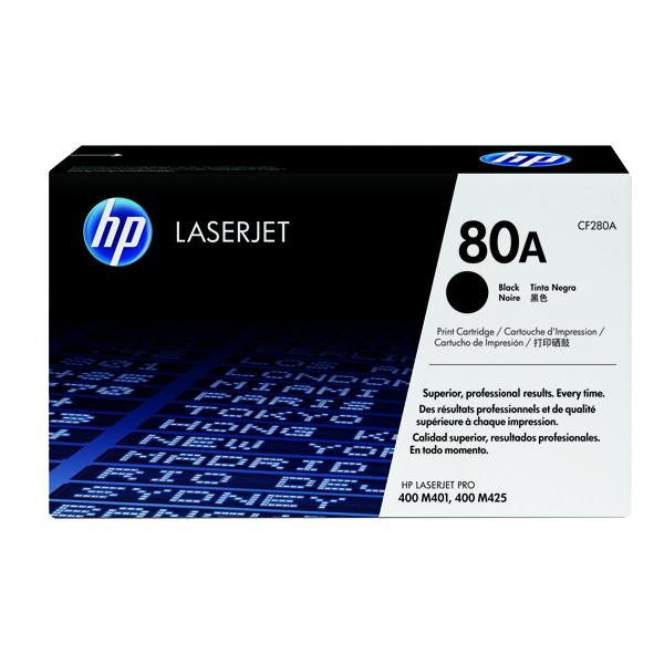 HP 80A Black Laserjet Toner Cartridge CF280A