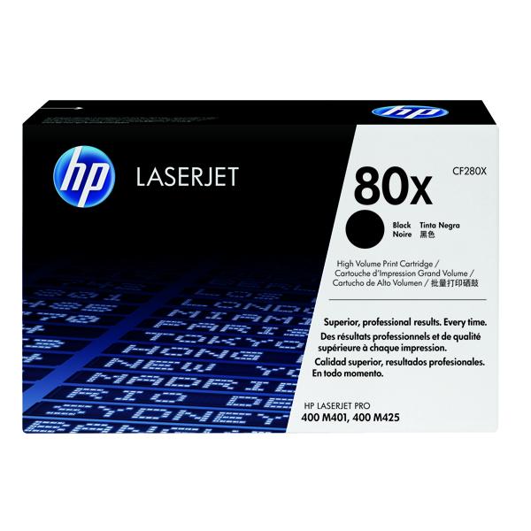 Image for HP 80X Black High Yield Laserjet Toner Cartridge CF280X