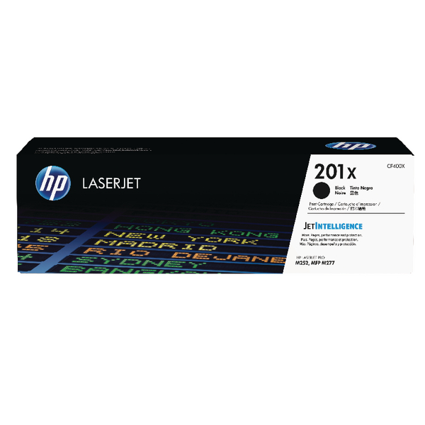 HP 201X Black High Yield Laserjet Toner Cartridge CF400X