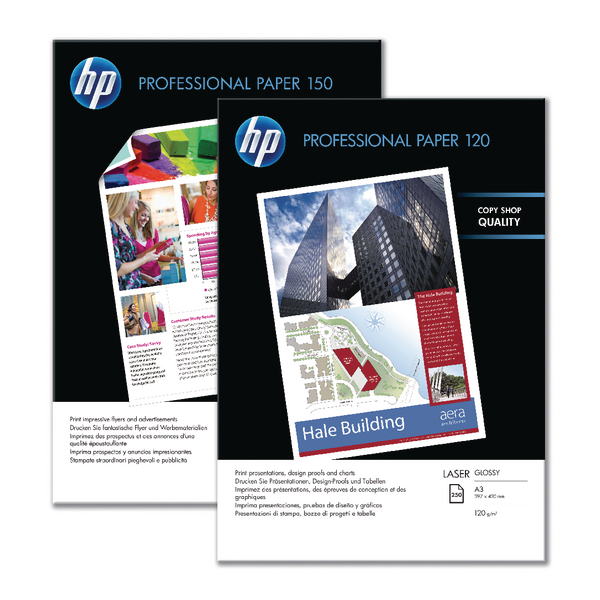 HP Professional Glossy Laser Photo Paper A4 250gsm Pk 250 CG965A