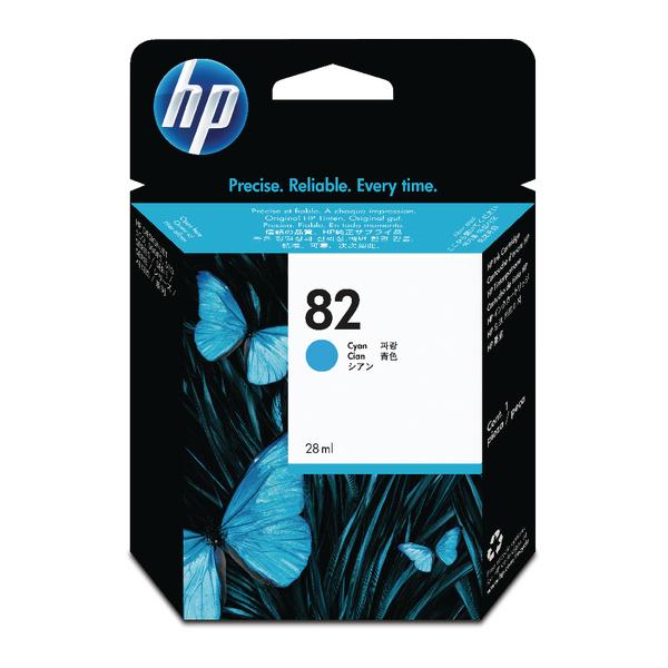 HP 82 Cyan Inkjet Cartridge CH566A