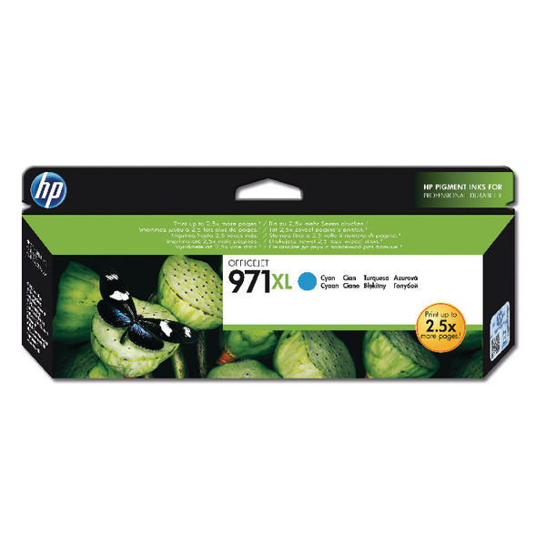 HP 971Xl Cyan Officejet Ink Cartridge CN626AE
