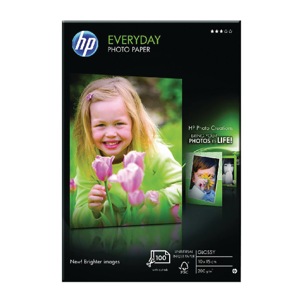 HP EVERYDAY PHOTO PAPER 10X15