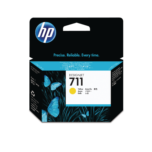 HP 711 Yellow Inkjet Cartridge CZ132A