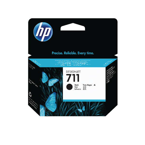 HP 711 Black Inkjet Cartridge CZ133A