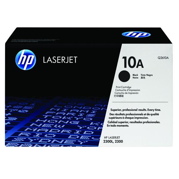 Hewlett Packard No10A LaserJet Toner Cartridge Black Q2610A