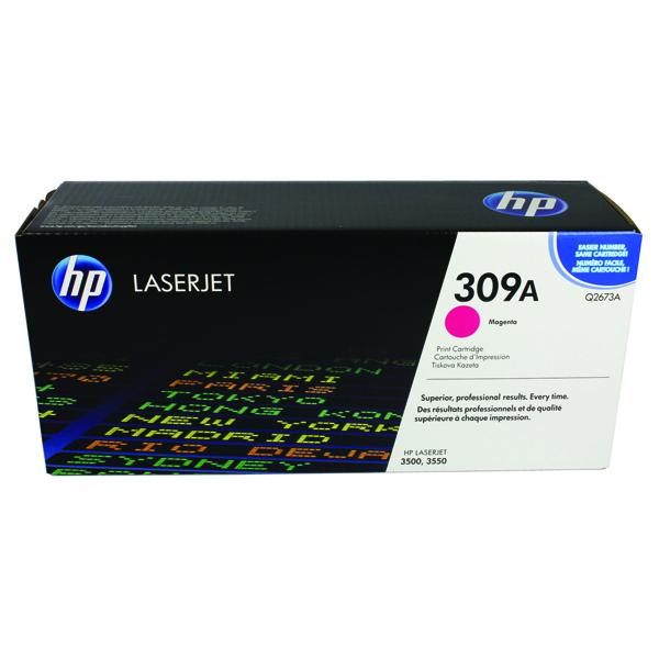 HP 309A Magenta Laserjet Toner Cartridge Q2673A