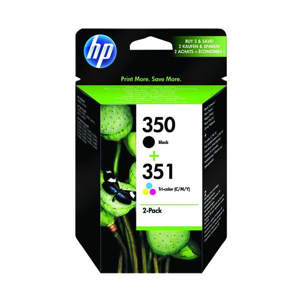 HP 350/351 Black/Cyan/Magenta/Yellow Ink Cartridges (2 Pack) SD412EE