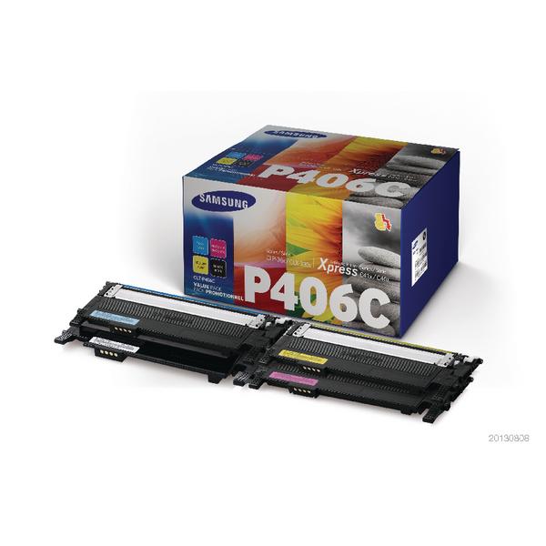 HP CLT-P406C 4-Pack CYMK Standard Yield Toner Cartridges (Pack of 4) SU375A