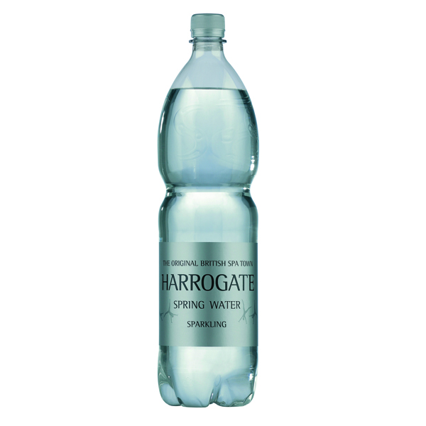 Harrogate Spring Bottled Water Sparkling 1.5L PET Silver Label/Cap (Pack of 12)