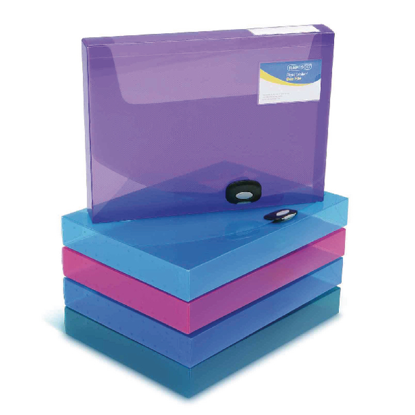Rapesco A4 Rigid Wallet Box File 40mm Assorted (Pack of 5) 1048