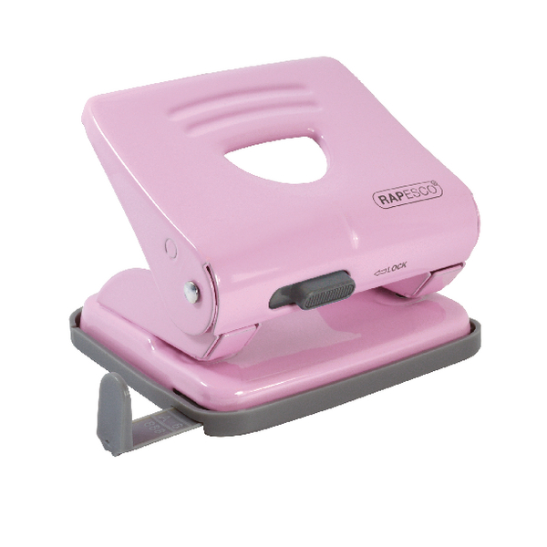 Rapesco 825 2 Hole Metal Punch Candy Pink